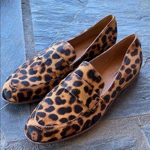 Madewell The Alex Loafers Leopard Calf Hair aa199